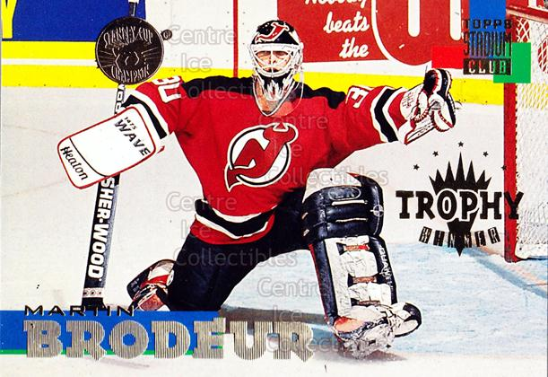 1994-95 Stadium Club Super Team Winner Redeemed #264 Martin Brodeur<br/>4 In Stock - $5.00 each - <a href=https://centericecollectibles.foxycart.com/cart?name=1994-95%20Stadium%20Club%20Super%20Team%20Winner%20Redeemed%20%23264%20Martin%20Brodeur...&price=$5.00&code=247326 class=foxycart> Buy it now! </a>