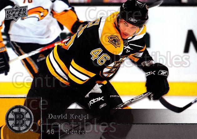 2009-10 Upper Deck #2 David Krejci<br/>6 In Stock - $1.00 each - <a href=https://centericecollectibles.foxycart.com/cart?name=2009-10%20Upper%20Deck%20%232%20David%20Krejci...&quantity_max=6&price=$1.00&code=247332 class=foxycart> Buy it now! </a>