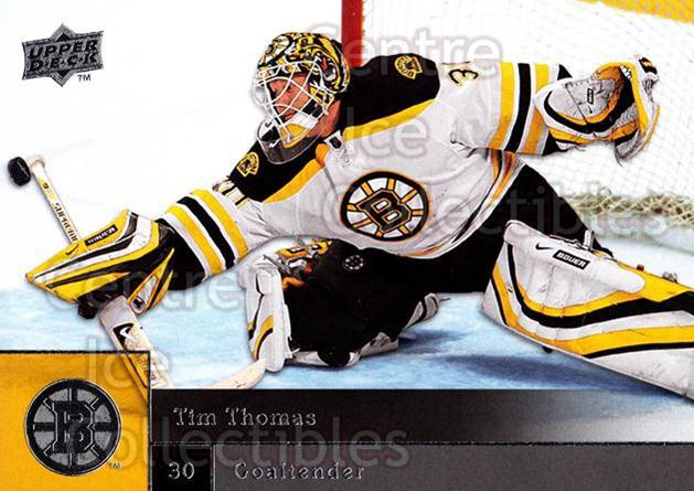 2009-10 Upper Deck #5 Tim Thomas<br/>7 In Stock - $1.00 each - <a href=https://centericecollectibles.foxycart.com/cart?name=2009-10%20Upper%20Deck%20%235%20Tim%20Thomas...&quantity_max=7&price=$1.00&code=247335 class=foxycart> Buy it now! </a>