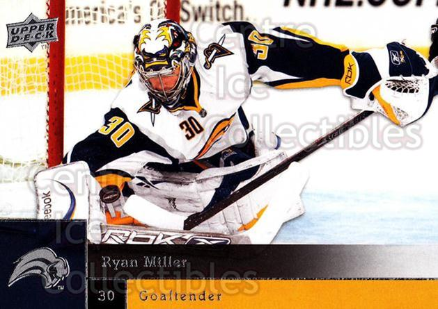 2009-10 Upper Deck #9 Ryan Miller<br/>7 In Stock - $1.00 each - <a href=https://centericecollectibles.foxycart.com/cart?name=2009-10%20Upper%20Deck%20%239%20Ryan%20Miller...&quantity_max=7&price=$1.00&code=247339 class=foxycart> Buy it now! </a>