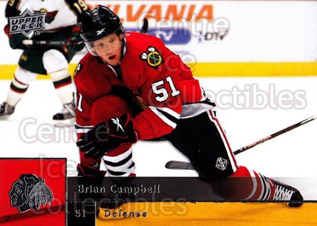 2009-10 Upper Deck #108 Brian Campbell<br/>8 In Stock - $1.00 each - <a href=https://centericecollectibles.foxycart.com/cart?name=2009-10%20Upper%20Deck%20%23108%20Brian%20Campbell...&quantity_max=8&price=$1.00&code=247438 class=foxycart> Buy it now! </a>