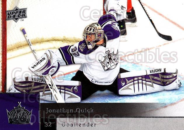 2009-10 Upper Deck #135 Jonathan Quick<br/>5 In Stock - $2.00 each - <a href=https://centericecollectibles.foxycart.com/cart?name=2009-10%20Upper%20Deck%20%23135%20Jonathan%20Quick...&quantity_max=5&price=$2.00&code=247465 class=foxycart> Buy it now! </a>