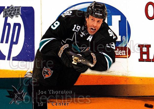 2009-10 Upper Deck #152 Joe Thornton<br/>7 In Stock - $1.00 each - <a href=https://centericecollectibles.foxycart.com/cart?name=2009-10%20Upper%20Deck%20%23152%20Joe%20Thornton...&quantity_max=7&price=$1.00&code=247482 class=foxycart> Buy it now! </a>