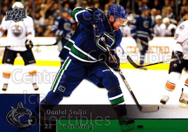 2009-10 Upper Deck #166 Daniel Sedin<br/>6 In Stock - $1.00 each - <a href=https://centericecollectibles.foxycart.com/cart?name=2009-10%20Upper%20Deck%20%23166%20Daniel%20Sedin...&quantity_max=6&price=$1.00&code=247496 class=foxycart> Buy it now! </a>