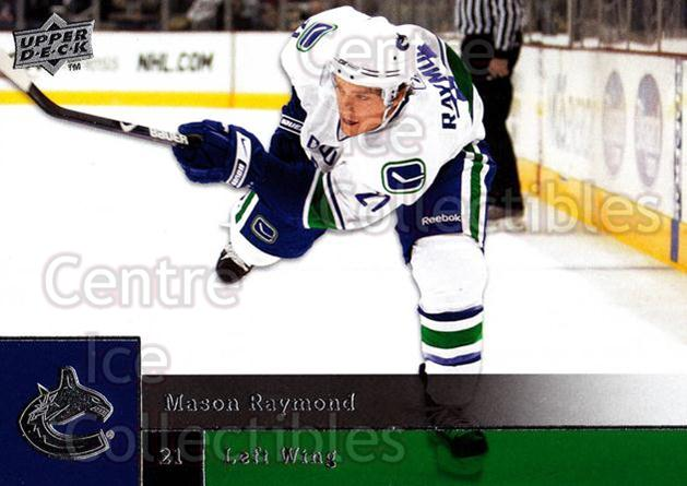 2009-10 Upper Deck #168 Mason Raymond<br/>7 In Stock - $1.00 each - <a href=https://centericecollectibles.foxycart.com/cart?name=2009-10%20Upper%20Deck%20%23168%20Mason%20Raymond...&quantity_max=7&price=$1.00&code=247498 class=foxycart> Buy it now! </a>