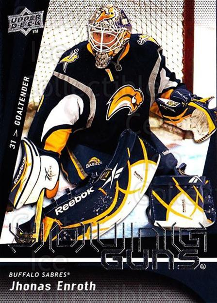 2009-10 Upper Deck #239 Jhonas Enroth<br/>3 In Stock - $5.00 each - <a href=https://centericecollectibles.foxycart.com/cart?name=2009-10%20Upper%20Deck%20%23239%20Jhonas%20Enroth...&quantity_max=3&price=$5.00&code=247569 class=foxycart> Buy it now! </a>