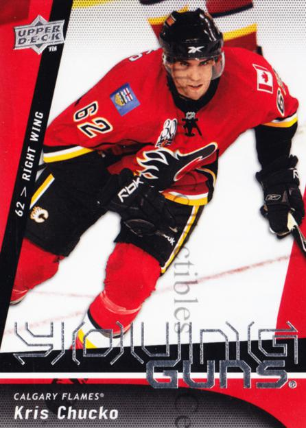 2009-10 Upper Deck #242 Kris Chucko<br/>10 In Stock - $5.00 each - <a href=https://centericecollectibles.foxycart.com/cart?name=2009-10%20Upper%20Deck%20%23242%20Kris%20Chucko...&quantity_max=10&price=$5.00&code=247572 class=foxycart> Buy it now! </a>