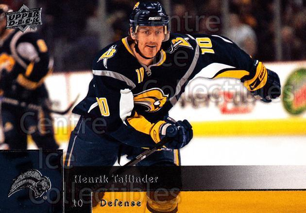 2009-10 Upper Deck #262 Henrik Tallinder<br/>10 In Stock - $1.00 each - <a href=https://centericecollectibles.foxycart.com/cart?name=2009-10%20Upper%20Deck%20%23262%20Henrik%20Tallinde...&quantity_max=10&price=$1.00&code=247592 class=foxycart> Buy it now! </a>