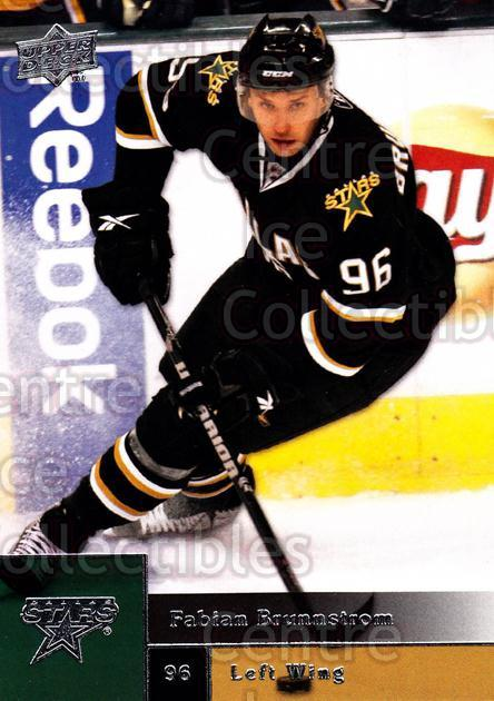 2009-10 Upper Deck #393 Fabian Brunnstrom<br/>14 In Stock - $1.00 each - <a href=https://centericecollectibles.foxycart.com/cart?name=2009-10%20Upper%20Deck%20%23393%20Fabian%20Brunnstr...&quantity_max=14&price=$1.00&code=247723 class=foxycart> Buy it now! </a>
