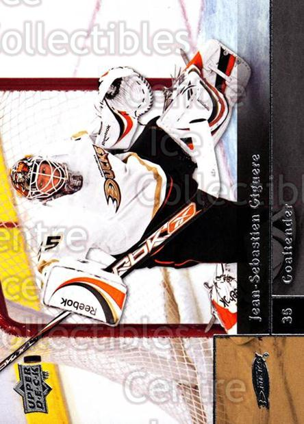2009-10 Upper Deck #401 Jean-Sebastien Giguere<br/>14 In Stock - $1.00 each - <a href=https://centericecollectibles.foxycart.com/cart?name=2009-10%20Upper%20Deck%20%23401%20Jean-Sebastien%20...&quantity_max=14&price=$1.00&code=247731 class=foxycart> Buy it now! </a>