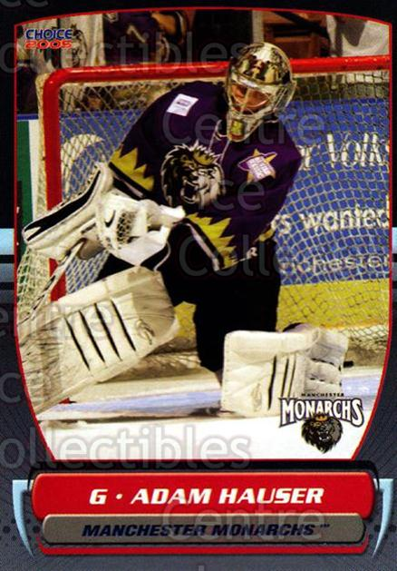 2004-05 Manchester Monarchs #1 Adam Hauser<br/>3 In Stock - $3.00 each - <a href=https://centericecollectibles.foxycart.com/cart?name=2004-05%20Manchester%20Monarchs%20%231%20Adam%20Hauser...&quantity_max=3&price=$3.00&code=247831 class=foxycart> Buy it now! </a>