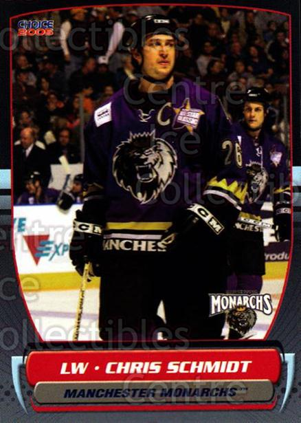 2004-05 Manchester Monarchs #3 Chris Schmidt<br/>2 In Stock - $3.00 each - <a href=https://centericecollectibles.foxycart.com/cart?name=2004-05%20Manchester%20Monarchs%20%233%20Chris%20Schmidt...&quantity_max=2&price=$3.00&code=247833 class=foxycart> Buy it now! </a>