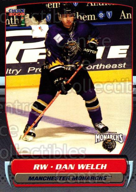 2004-05 Manchester Monarchs #4 Dan Welch<br/>2 In Stock - $3.00 each - <a href=https://centericecollectibles.foxycart.com/cart?name=2004-05%20Manchester%20Monarchs%20%234%20Dan%20Welch...&quantity_max=2&price=$3.00&code=247834 class=foxycart> Buy it now! </a>