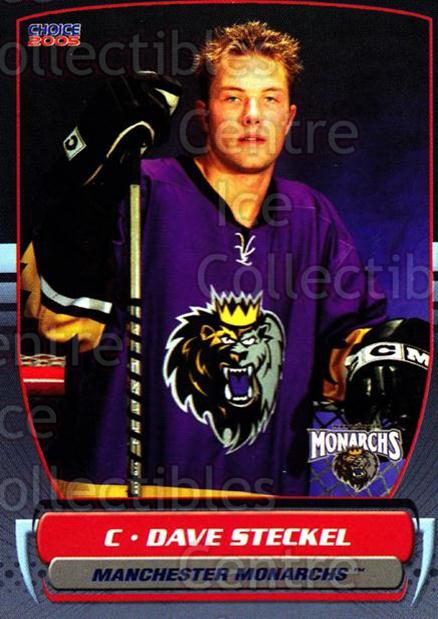 2004-05 Manchester Monarchs #5 David Steckel<br/>1 In Stock - $3.00 each - <a href=https://centericecollectibles.foxycart.com/cart?name=2004-05%20Manchester%20Monarchs%20%235%20David%20Steckel...&quantity_max=1&price=$3.00&code=247835 class=foxycart> Buy it now! </a>