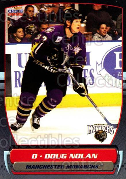 2004-05 Manchester Monarchs #7 Doug Nolan<br/>3 In Stock - $3.00 each - <a href=https://centericecollectibles.foxycart.com/cart?name=2004-05%20Manchester%20Monarchs%20%237%20Doug%20Nolan...&quantity_max=3&price=$3.00&code=247837 class=foxycart> Buy it now! </a>