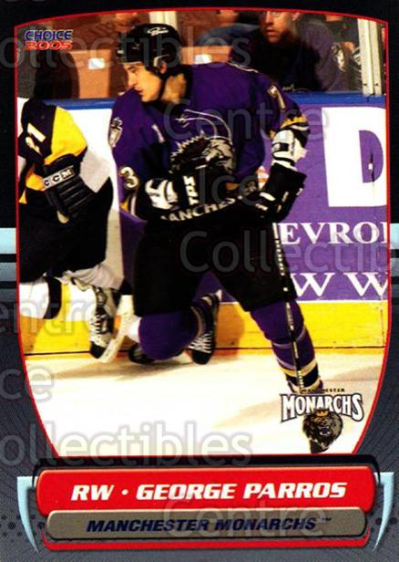 2004-05 Manchester Monarchs #9 George Parros<br/>1 In Stock - $3.00 each - <a href=https://centericecollectibles.foxycart.com/cart?name=2004-05%20Manchester%20Monarchs%20%239%20George%20Parros...&quantity_max=1&price=$3.00&code=247839 class=foxycart> Buy it now! </a>