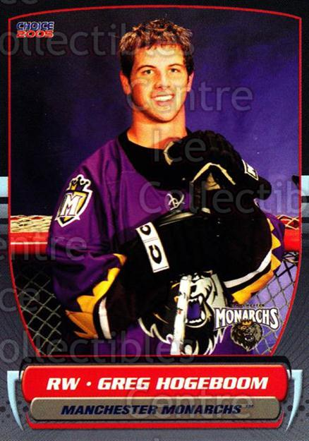 2004-05 Manchester Monarchs #10 Greg Hogeboom<br/>3 In Stock - $3.00 each - <a href=https://centericecollectibles.foxycart.com/cart?name=2004-05%20Manchester%20Monarchs%20%2310%20Greg%20Hogeboom...&quantity_max=3&price=$3.00&code=247840 class=foxycart> Buy it now! </a>