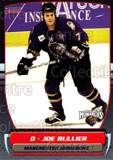2004-05 Manchester Monarchs #12 Joe Rullier<br/>4 In Stock - $3.00 each - <a href=https://centericecollectibles.foxycart.com/cart?name=2004-05%20Manchester%20Monarchs%20%2312%20Joe%20Rullier...&quantity_max=4&price=$3.00&code=247842 class=foxycart> Buy it now! </a>