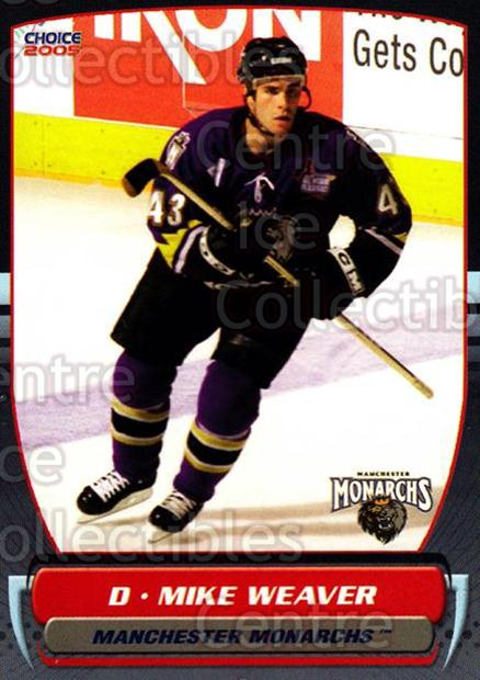 2004-05 Manchester Monarchs #16 Mike Weaver<br/>1 In Stock - $3.00 each - <a href=https://centericecollectibles.foxycart.com/cart?name=2004-05%20Manchester%20Monarchs%20%2316%20Mike%20Weaver...&quantity_max=1&price=$3.00&code=247846 class=foxycart> Buy it now! </a>