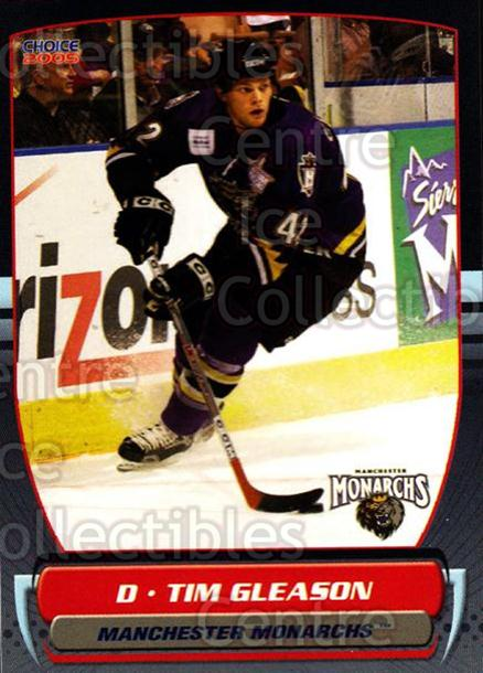2004-05 Manchester Monarchs #21 Tim Gleason<br/>4 In Stock - $3.00 each - <a href=https://centericecollectibles.foxycart.com/cart?name=2004-05%20Manchester%20Monarchs%20%2321%20Tim%20Gleason...&quantity_max=4&price=$3.00&code=247851 class=foxycart> Buy it now! </a>