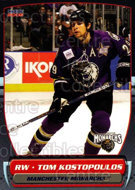 2004-05 Manchester Monarchs #22 Tom Kostopoulos<br/>3 In Stock - $3.00 each - <a href=https://centericecollectibles.foxycart.com/cart?name=2004-05%20Manchester%20Monarchs%20%2322%20Tom%20Kostopoulos...&quantity_max=3&price=$3.00&code=247852 class=foxycart> Buy it now! </a>