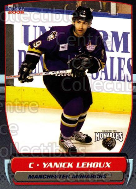 2004-05 Manchester Monarchs #24 Yanick Lehoux<br/>4 In Stock - $3.00 each - <a href=https://centericecollectibles.foxycart.com/cart?name=2004-05%20Manchester%20Monarchs%20%2324%20Yanick%20Lehoux...&quantity_max=4&price=$3.00&code=247854 class=foxycart> Buy it now! </a>