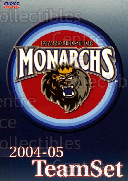 2004-05 Manchester Monarchs #26 Checklist<br/>3 In Stock - $3.00 each - <a href=https://centericecollectibles.foxycart.com/cart?name=2004-05%20Manchester%20Monarchs%20%2326%20Checklist...&quantity_max=3&price=$3.00&code=247856 class=foxycart> Buy it now! </a>
