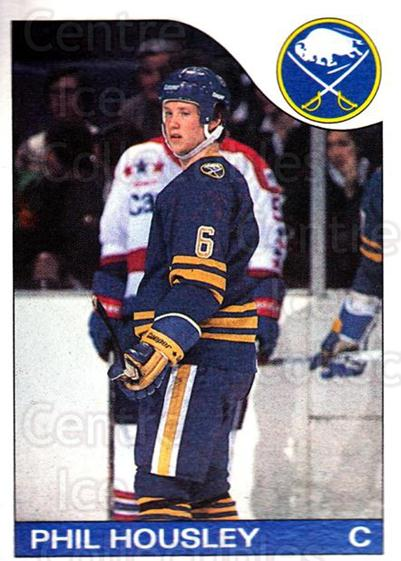 1985-86 Topps #63 Phil Housley<br/>4 In Stock - $1.00 each - <a href=https://centericecollectibles.foxycart.com/cart?name=1985-86%20Topps%20%2363%20Phil%20Housley...&quantity_max=4&price=$1.00&code=24797 class=foxycart> Buy it now! </a>