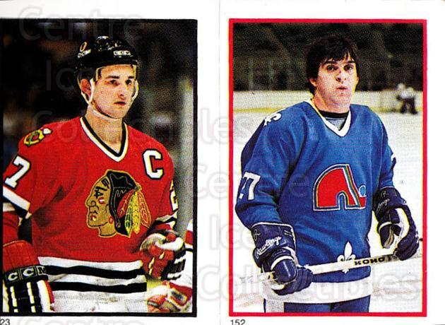 1985-86 O-Pee-Chee Stickers #023-152 Darryl Sutter, Wilf Paiement<br/>4 In Stock - $2.00 each - <a href=https://centericecollectibles.foxycart.com/cart?name=1985-86%20O-Pee-Chee%20Stickers%20%23023-152%20Darryl%20Sutter,%20...&quantity_max=4&price=$2.00&code=248001 class=foxycart> Buy it now! </a>