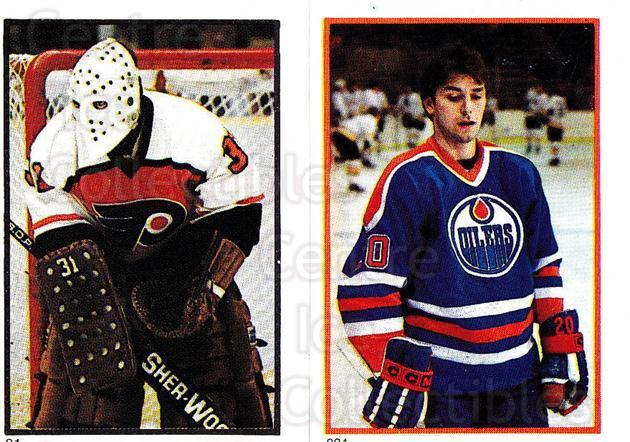 1985-86 O-Pee-Chee Stickers #091-224 Pelle Lindbergh, Billy Carroll<br/>2 In Stock - $10.00 each - <a href=https://centericecollectibles.foxycart.com/cart?name=1985-86%20O-Pee-Chee%20Stickers%20%23091-224%20Pelle%20Lindbergh...&quantity_max=2&price=$10.00&code=248006 class=foxycart> Buy it now! </a>