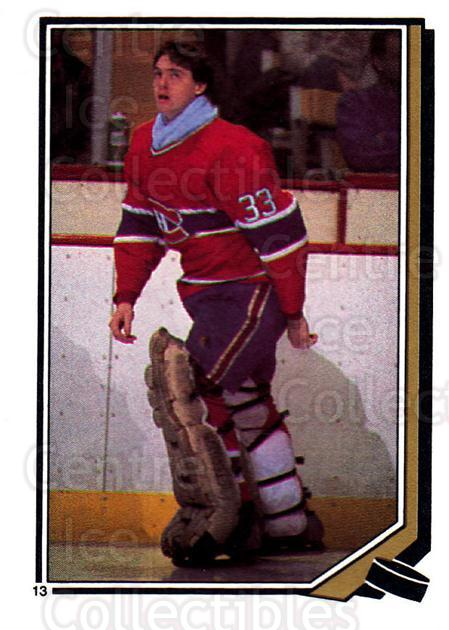 1987-88 O-Pee-Chee Stickers #013-0 Patrick Roy<br/>1 In Stock - $10.00 each - <a href=https://centericecollectibles.foxycart.com/cart?name=1987-88%20O-Pee-Chee%20Stickers%20%23013-0%20Patrick%20Roy...&quantity_max=1&price=$10.00&code=248038 class=foxycart> Buy it now! </a>