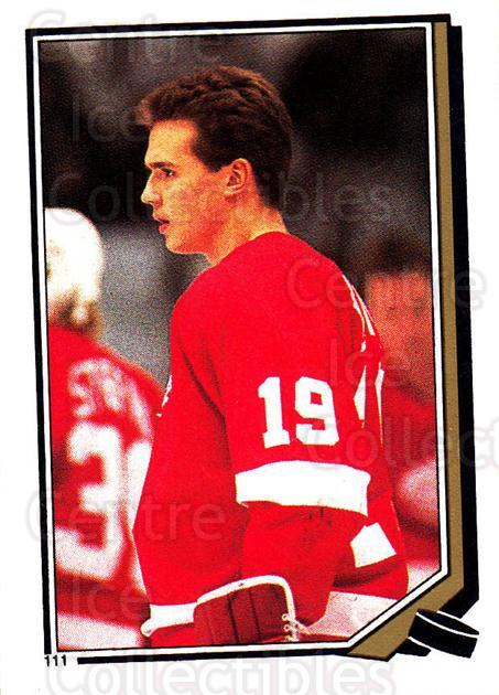 1987-88 O-Pee-Chee Stickers #111-0 Steve Yzerman<br/>2 In Stock - $3.00 each - <a href=https://centericecollectibles.foxycart.com/cart?name=1987-88%20O-Pee-Chee%20Stickers%20%23111-0%20Steve%20Yzerman...&price=$3.00&code=248044 class=foxycart> Buy it now! </a>