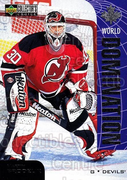 1997-98 Collectors Choice World Domination #20 Martin Brodeur<br/>1 In Stock - $3.00 each - <a href=https://centericecollectibles.foxycart.com/cart?name=1997-98%20Collectors%20Choice%20World%20Domination%20%2320%20Martin%20Brodeur...&price=$3.00&code=248054 class=foxycart> Buy it now! </a>