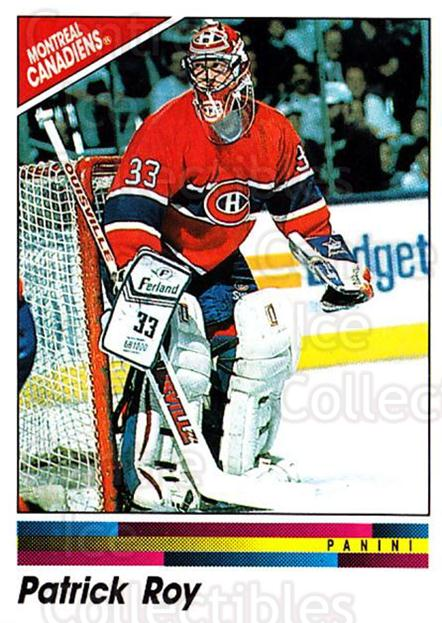 1990-91 Panini Stickers #51 Patrick Roy<br/>2 In Stock - $3.00 each - <a href=https://centericecollectibles.foxycart.com/cart?name=1990-91%20Panini%20Stickers%20%2351%20Patrick%20Roy...&quantity_max=2&price=$3.00&code=248063 class=foxycart> Buy it now! </a>