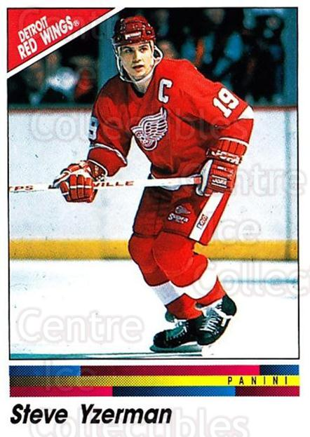 1990-91 Panini Stickers #208 Steve Yzerman<br/>8 In Stock - $2.00 each - <a href=https://centericecollectibles.foxycart.com/cart?name=1990-91%20Panini%20Stickers%20%23208%20Steve%20Yzerman...&price=$2.00&code=248067 class=foxycart> Buy it now! </a>