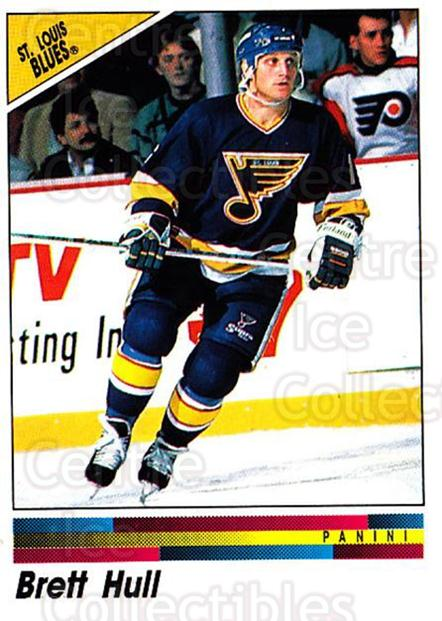 1990-91 Panini Stickers #262 Brett Hull<br/>4 In Stock - $2.00 each - <a href=https://centericecollectibles.foxycart.com/cart?name=1990-91%20Panini%20Stickers%20%23262%20Brett%20Hull...&price=$2.00&code=248069 class=foxycart> Buy it now! </a>