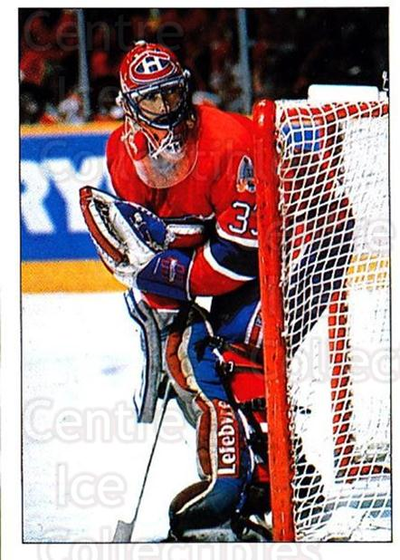 1990-91 Panini Stickers #323 Patrick Roy<br/>3 In Stock - $3.00 each - <a href=https://centericecollectibles.foxycart.com/cart?name=1990-91%20Panini%20Stickers%20%23323%20Patrick%20Roy...&quantity_max=3&price=$3.00&code=248070 class=foxycart> Buy it now! </a>