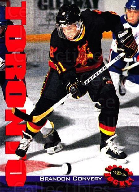 1994 Classic Hockey #82 Brandon Convery<br/>11 In Stock - $1.00 each - <a href=https://centericecollectibles.foxycart.com/cart?name=1994%20Classic%20Hockey%20%2382%20Brandon%20Convery...&quantity_max=11&price=$1.00&code=2480 class=foxycart> Buy it now! </a>