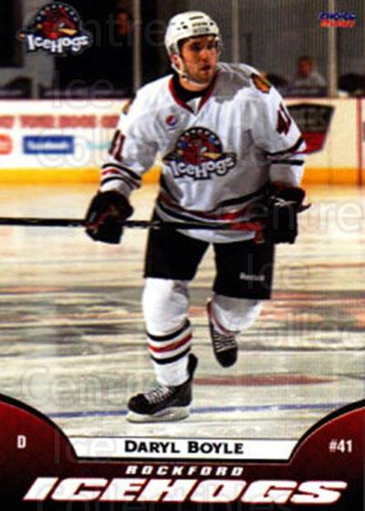 2009-10 Rockford Ice Hogs #4 Daryl Boyle<br/>4 In Stock - $3.00 each - <a href=https://centericecollectibles.foxycart.com/cart?name=2009-10%20Rockford%20Ice%20Hogs%20%234%20Daryl%20Boyle...&quantity_max=4&price=$3.00&code=248144 class=foxycart> Buy it now! </a>