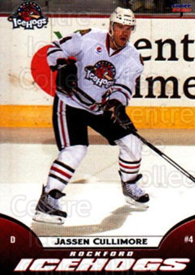 2009-10 Rockford Ice Hogs #11 Jassen Cullimore<br/>6 In Stock - $3.00 each - <a href=https://centericecollectibles.foxycart.com/cart?name=2009-10%20Rockford%20Ice%20Hogs%20%2311%20Jassen%20Cullimor...&quantity_max=6&price=$3.00&code=248151 class=foxycart> Buy it now! </a>