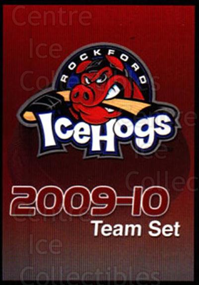 2009-10 Rockford Ice Hogs #27 Checklist<br/>6 In Stock - $3.00 each - <a href=https://centericecollectibles.foxycart.com/cart?name=2009-10%20Rockford%20Ice%20Hogs%20%2327%20Checklist...&quantity_max=6&price=$3.00&code=248167 class=foxycart> Buy it now! </a>