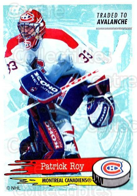 1995-96 Panini Stickers #46 Patrick Roy<br/>6 In Stock - $3.00 each - <a href=https://centericecollectibles.foxycart.com/cart?name=1995-96%20Panini%20Stickers%20%2346%20Patrick%20Roy...&quantity_max=6&price=$3.00&code=248194 class=foxycart> Buy it now! </a>