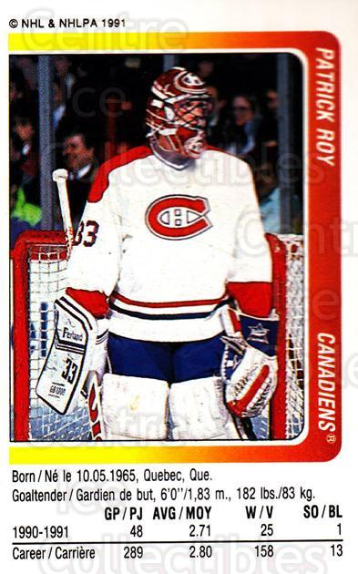 1991-92 Panini Stickers #184 Patrick Roy<br/>4 In Stock - $3.00 each - <a href=https://centericecollectibles.foxycart.com/cart?name=1991-92%20Panini%20Stickers%20%23184%20Patrick%20Roy...&quantity_max=4&price=$3.00&code=248198 class=foxycart> Buy it now! </a>