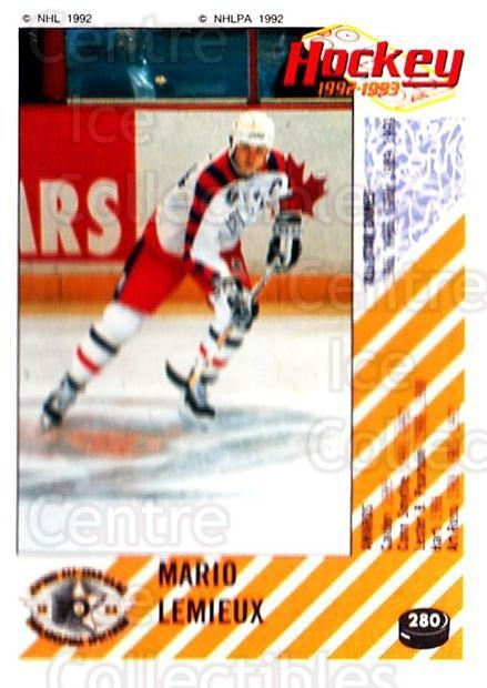 1992-93 Panini Stickers #280 Mario Lemieux<br/>1 In Stock - $3.00 each - <a href=https://centericecollectibles.foxycart.com/cart?name=1992-93%20Panini%20Stickers%20%23280%20Mario%20Lemieux...&quantity_max=1&price=$3.00&code=248203 class=foxycart> Buy it now! </a>