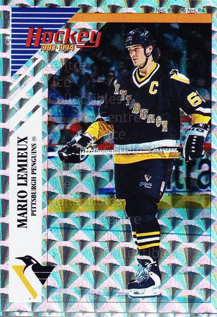 1993-94 Panini Stickers Inserts #H Mario Lemieux<br/>8 In Stock - $2.00 each - <a href=https://centericecollectibles.foxycart.com/cart?name=1993-94%20Panini%20Stickers%20Inserts%20%23H%20Mario%20Lemieux...&quantity_max=8&price=$2.00&code=248206 class=foxycart> Buy it now! </a>