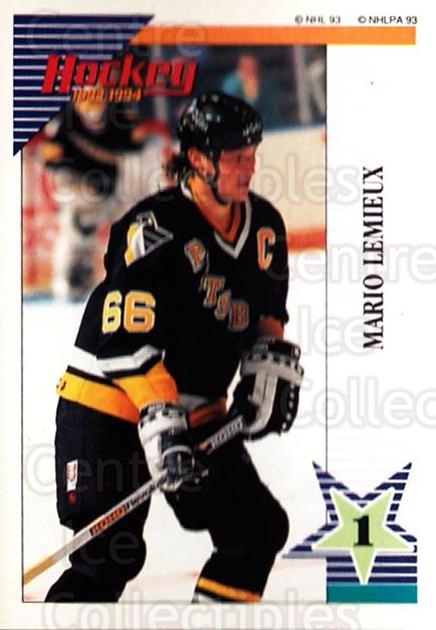 1993-94 Panini Stickers #136 Mario Lemieux<br/>6 In Stock - $2.00 each - <a href=https://centericecollectibles.foxycart.com/cart?name=1993-94%20Panini%20Stickers%20%23136%20Mario%20Lemieux...&quantity_max=6&price=$2.00&code=248208 class=foxycart> Buy it now! </a>
