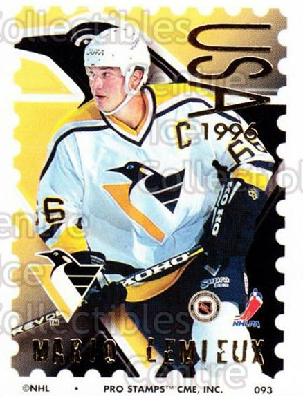 1996-97 NHL Pro Stamps #93 Mario Lemieux<br/>55 In Stock - $3.00 each - <a href=https://centericecollectibles.foxycart.com/cart?name=1996-97%20NHL%20Pro%20Stamps%20%2393%20Mario%20Lemieux...&quantity_max=55&price=$3.00&code=248213 class=foxycart> Buy it now! </a>