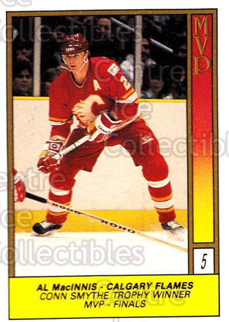 1989-90 O-Pee-Chee Stickers #005-0 Al MacInnis<br/>7 In Stock - $2.00 each - <a href=https://centericecollectibles.foxycart.com/cart?name=1989-90%20O-Pee-Chee%20Stickers%20%23005-0%20Al%20MacInnis...&quantity_max=7&price=$2.00&code=248221 class=foxycart> Buy it now! </a>
