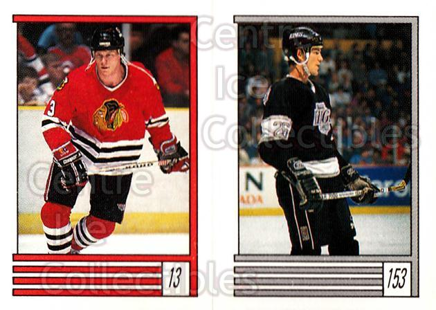 1989-90 O-Pee-Chee Stickers #013-153 Dave Manson, Mike Krushelnyski<br/>11 In Stock - $1.00 each - <a href=https://centericecollectibles.foxycart.com/cart?name=1989-90%20O-Pee-Chee%20Stickers%20%23013-153%20Dave%20Manson,%20Mi...&quantity_max=11&price=$1.00&code=248229 class=foxycart> Buy it now! </a>