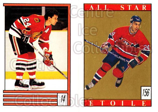 1989-90 O-Pee-Chee Stickers #014-156 Doug Wilson, Chris Chelios, Patrick Roy<br/>1 In Stock - $2.00 each - <a href=https://centericecollectibles.foxycart.com/cart?name=1989-90%20O-Pee-Chee%20Stickers%20%23014-156%20Doug%20Wilson,%20Ch...&quantity_max=1&price=$2.00&code=248230 class=foxycart> Buy it now! </a>